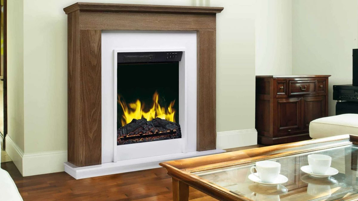 Luxury parlour in traditional fireplace