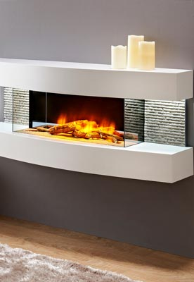 Chemin'Arte decorative wall fireplace en situation