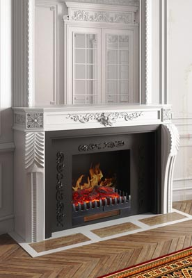 Mobile Electric fireplace by Chemin'Arte